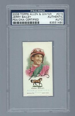 Jerry Bailey signed 2006 Topps A&G card PSA/DNA slabbed Jockey Hall of Fame