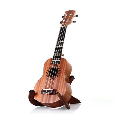 "21"" Soprano Ukulele Uke Sapele 15 Frets Musical Instrument Brown Hawaiian Guitar"