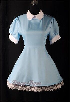 f64a7f3bcc39 NEW Blue Maid Alice in Wonderland Lolita Outfit Dress Size S-3XL RR  4166_blue
