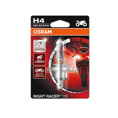 OSRAM H4 12V NightRacer Night Racer PLUS 110% mehr Licht Moto 64193NR1-01B