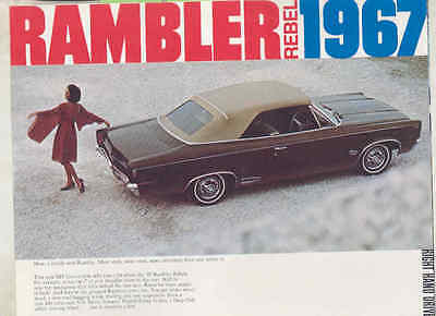 1967 AMC Rambler Rebel Brochure Right Hand Drive England Export wu3456
