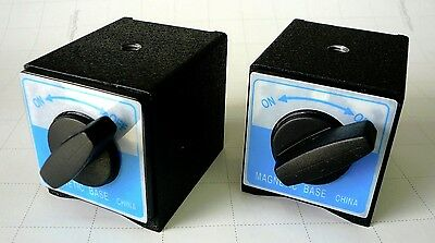 2 Powerful Magnetic Bases For Work Holding Positioning & Dial/Test Indicator New