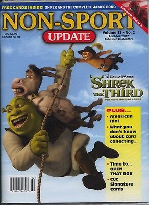 Non Sports Update Volume 18 No 2 2007 MINT Shrek 3rd James Bond Promo's