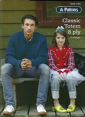 Patons CLASSIC TOTEM 8 PLY - 13 Designs for all the Family - Book 1301