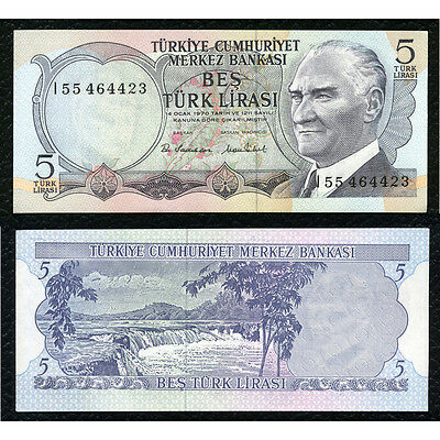 Turkey P-185 L1970(1976) 5 Lira Crisp Uncirculated