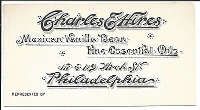 Scare Business Card of Charles E. Hires, Creator of Hires Root Beer, c1870s