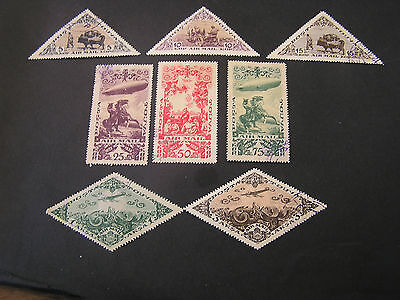 *russia, Tannu-Tuva, Scott # C10-C16(7)+C18, Total 8 1934 Air Post Scenes Used