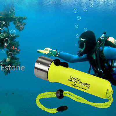New Professional Underwater Diving Flashlight Torch LED Light Waterproof Lamp