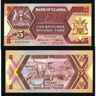 Uganda P-27 1982 5 Shillings Crisp Uncirculated