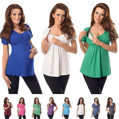 Comfortable 2in1 Maternity and Nursing Top Tunic Size 8 10 12 14 16 18 7042