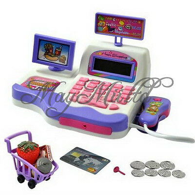 Kids Toy Pretend Play Supermarket Cash Register Scanner Checkout Counter New