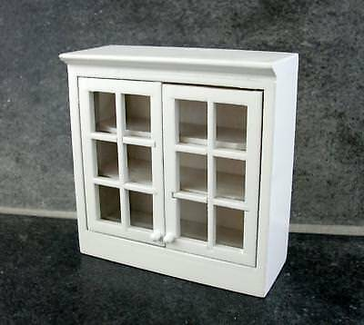 Dolls House Miniature Kitchen Furniture White Display Wall Unit Cabinet 5374