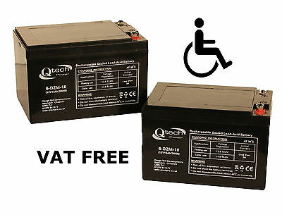 MOBILITY SCOOTER BATTERY ' 2 ' Disabled Wheelchair 12V 10ah Batteries AGM GEL