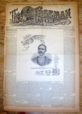 Rare 1893 African-American newspaper Essay HOW NEGRO CAN ADVANCE wHIS OWN EFFORT
