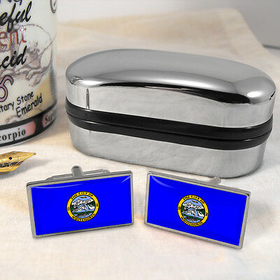 Whitehorse Flag Cufflinks & Box