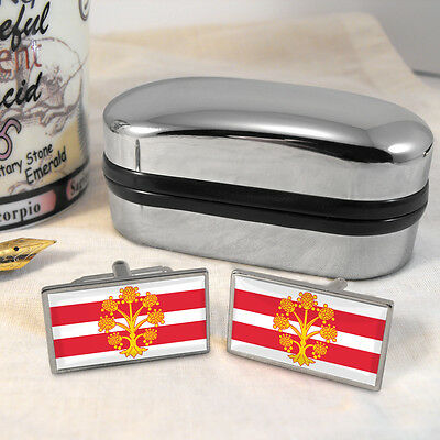 Westmorland County Flag Cufflinks & Box