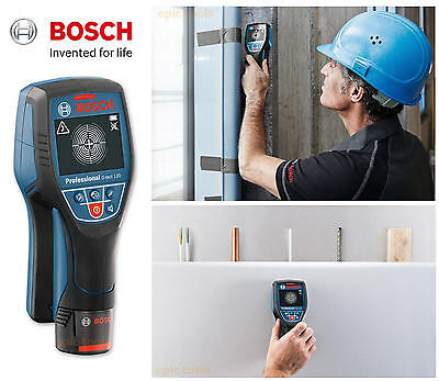 BOSCH D-Tect 120 Cable,Wire, Metal, Copper, Stud Detector Wall Radar Scanner Kit
