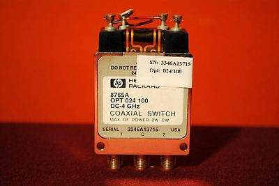 HP 8765A Coaxial Switch w/ opt's 024 & 100
