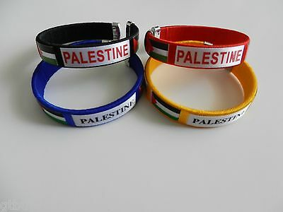 Four Colored Palestinian Bracelet Palestine Flag Wristband Flexable 4 Bracelets