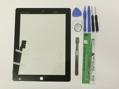 New Black Touch Screen Glass Digitizer ReplacementFor iPad 3 4 + Tools USA