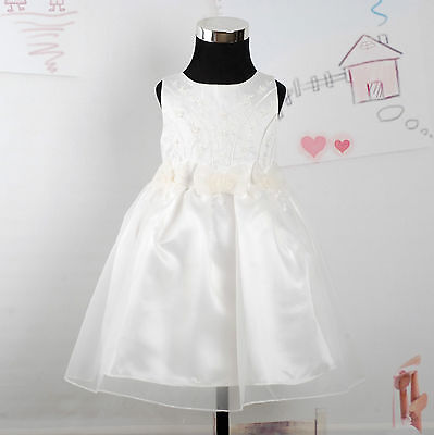 New Ivory Satin Christening/Wedding/Party Dress 18-24 Months