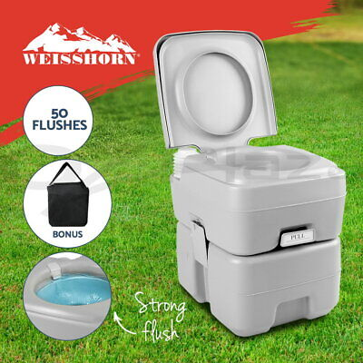 【20%OFF】 20L Outdoor Portable Toilet Camping Potty Caravan Travel Boating w Bag