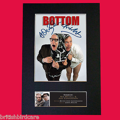 RIK MAYALL & ADE EDMONDSON Signed Autograph Mounted Photo Repro A4 Print 492