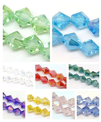 Diy Jewelry Necklace Bracelet Crystal Bicone 5301 Loose Glass BEAD Lot AB Color