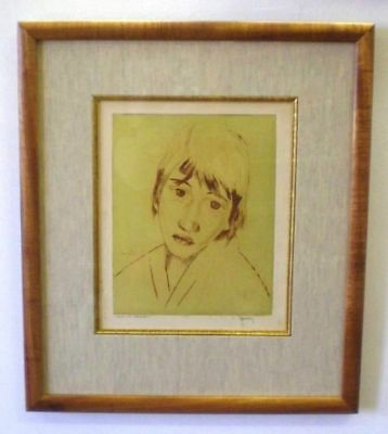 Original ~ JOHN M KELLY~ HAWAII Aquatint Etching~MALIA~Pencil SIGNED~Koa Frame