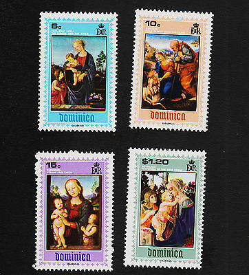 1969 Dominica Madonna Set Sc#287-290 Mint Never Hinged VF