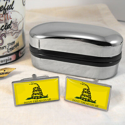 Gadsden Flag Cufflinks & Box