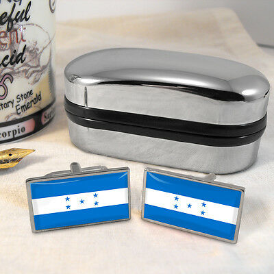 Honduras Flag Cufflinks & Box