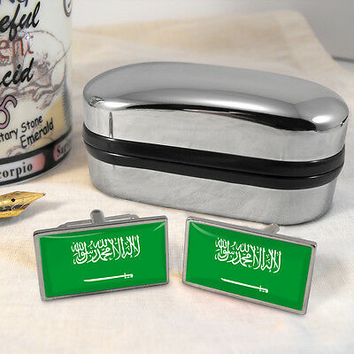 Saudi Arabian Flag Cufflinks & Box