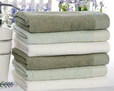 1X Pure Color Natural Organic Bamboo Fiber Face Towel Hand Towel Family Washer