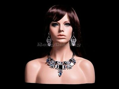 Female mannequin head Young Woman to shoulder portrait style #MZ-H1