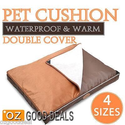 Small to Extra Large Waterproof Non Slip Dog Pet Mat Bed Cushion 4 Sizes NL