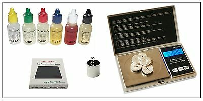 Gold Testing Acid Tester Jewelry Kit Stone Electronic Digital Scale Silver 14K