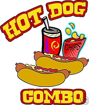 """Concession Hot Dogs  Decal 7"""" Cart Food Truck Restaurant Vinyl Sign Sticker"""