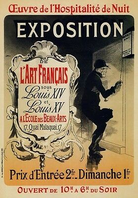 AP162 Vintage French Art Exposition H Ibels Advertisement Poster Card A5 G