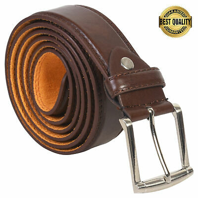 """Belt Mens Jeans Brown  All Sizes 30""""-60""""  Genuine Leather Stylish Casual Belt"""