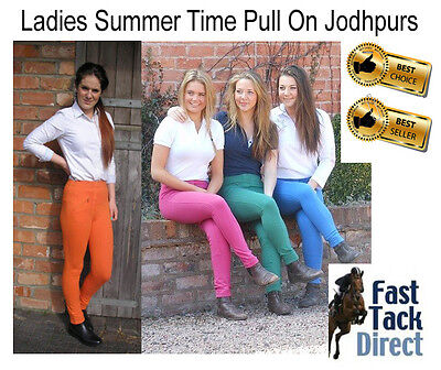 Ladies ` Easy Pull On` Summer Jodhpurs / horse riding Jodpurs All sizes ref 1298