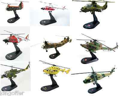 1:72 scale model helicopters on stands amercom various new in packs freepost