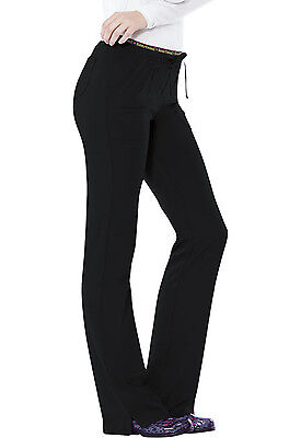Black HeartSoul Scrubs Heart Breaker Low Rise Drawstring Pants 20110 BCKH