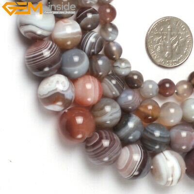 Genuine Botswana Agate Onyx GEM Beads Jewelry Making Natural Stone Strand 15""