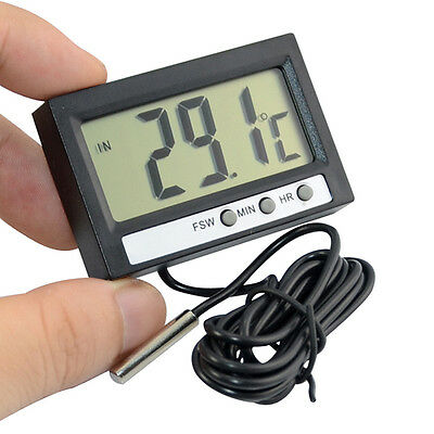 Digital Household Car Indoor And Outdoor Thermometer Meter with Alarm Clock New
