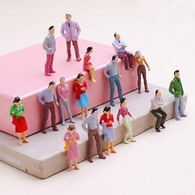 100pcs Painted Train Passengers People Figures O Scale 1:50 for layout diorama