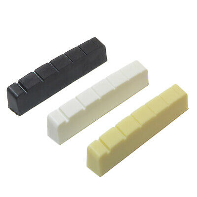 Graphite six string left handed guitar top nut 42x6mm White, Black or Ivory