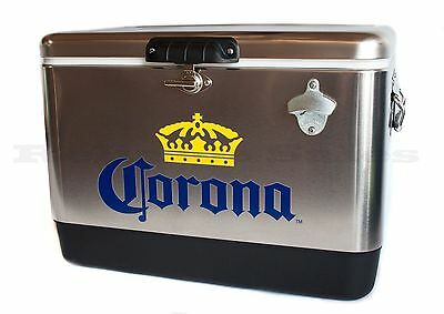 Corona Stainless Steel Beer Cooler 54 quart with Opener ~ In TV Commercial ~ NEW