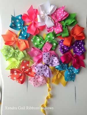 "10 - 3""  Hair Bows Boutique Girls Baby Toddler Alligator Clip Grosgrain Ribbon"