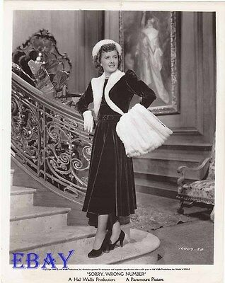 Barbara Stanwyck VINTAGE Photo Sorry Wrong Number